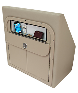Crest Wine Cabinet with Open Glovebox in Cushion