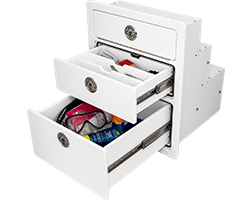 JC Drawer Unit with Two Drawers Open