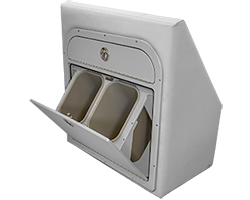 Crest Tilt-Out Trash Can Open in Cushion