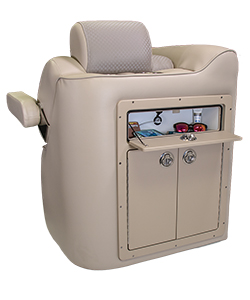 JC Wine Cabinet with Open Glovebox in Cushion