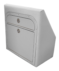 Crest Tilt-Out Trash Can Closed in Cushion