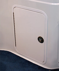 Acrylic Access Door with Aluminum Powdercoated Frame