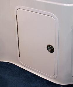 Acrylic Access Door with Aluminum Powdercoated Frame