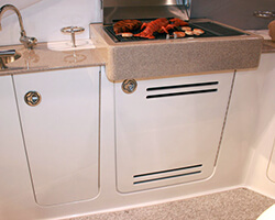 Acrylic Vented Door with Corian Countertop and Grill Holder