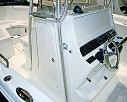 Aluminum Framed Center Console Door With Acrylic Panels