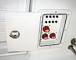 Battery Switch Electronics Panel Door with Starboard Frame and Door