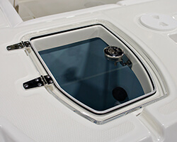Clear Acrylic Baitwell Lid With Friction Hinges