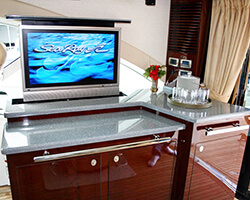 Corian Countertop with Drop Down TV