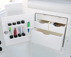 Drawer Unit with Lure Tubes and Knife and Pliers Holder