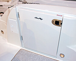 Hollow Core Acrylic Transom Door with Omni Latch
