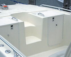 Powdercoated Aluminum Dual Cabin Doors with Starboard Hatch and Doors
