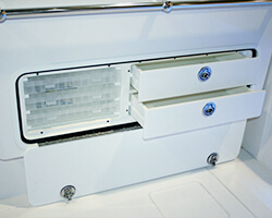 Powdercoated Aluminum Frame Tackle Box and Drawer Unit-Open View