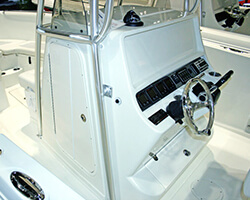 Powdercoated Aluminum Framed Poly Center Console Door