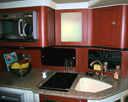 Solid Surface Counter Top and Upper Galley Unit
