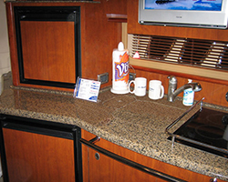 Solid Surface Counter Top with Matching Sink Lid
