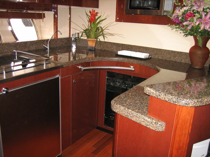 solid surface upper and lower countertops