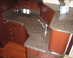 Solid Surface Upper and Lower Galley Countertops and Trim