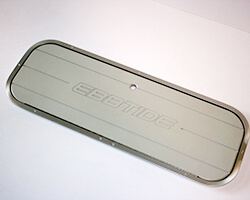 Starboard Floor Storage Lid with Engraving and Piano Hinge