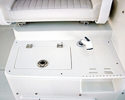 Starboard Sink Lid with Cutting Board and Tool Storage Area