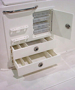 Tackle Center with Drawers Plano Boxes and Knife and Pliers Holder