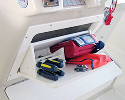 Tilt-Out Storage Box Holds Tools Flair Kit and First Aid Kit