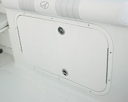 Transom Double Open Out Door with Aluminum Powdercoated Frame and Poly Doors