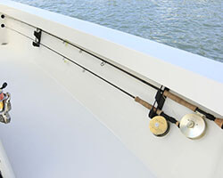 Two Fly Rods Gunwale Mount