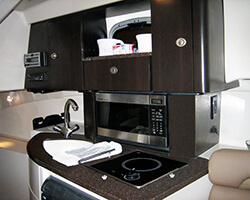Upper Galley Units and Solid Surface Countertop