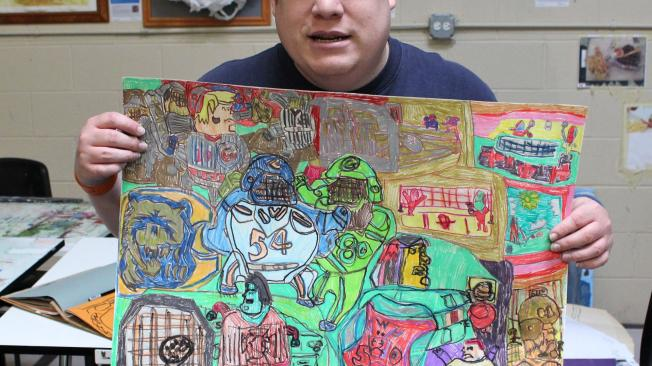 Sean and his drawing