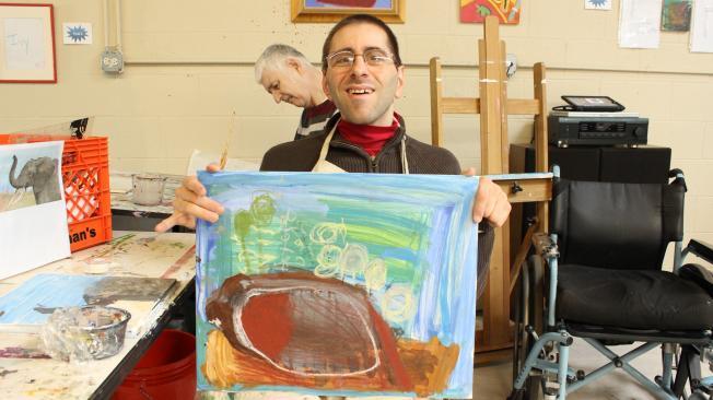 Brian's beaver painting