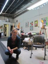 Megan poses in the studio for photographer Amanda Gantner.
