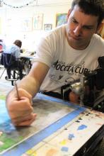 Chris Viau art making