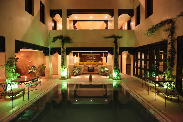 A traditional Moroccan Riad with private pool & large rooftop terrace with ocean views