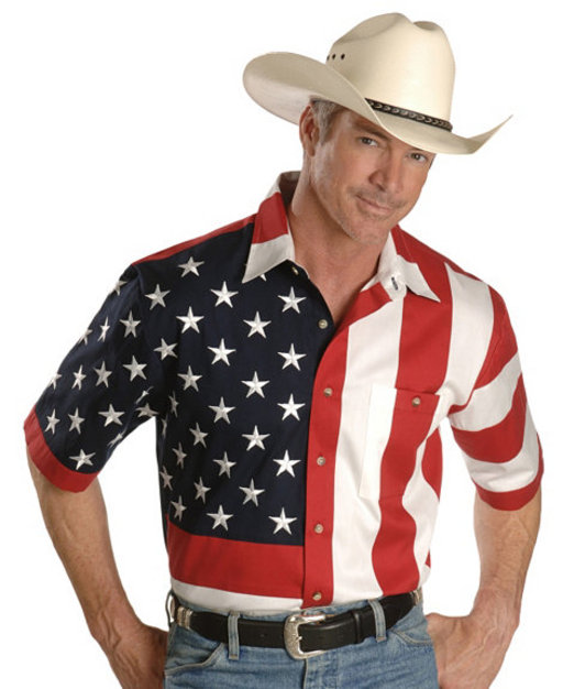 Scully USA Flag Western Shirt