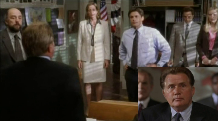 President Bartlet apologizing to his staff