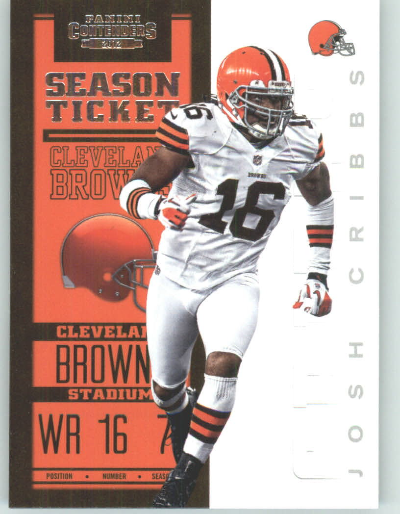Panini Contenders 2012 Panini Contenders Playoff Season Ticket # 24 Josh Cribbs - Cleveland Browns (NFL Football Trading Card) at Sears.com