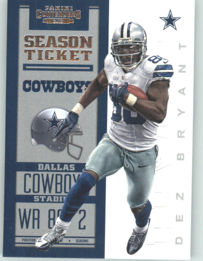 Panini Contenders 2012 Panini Contenders Playoff Season Ticket # 27 Dez Bryant - Dallas Cowboys (NFL Football Trading Card) at Sears.com