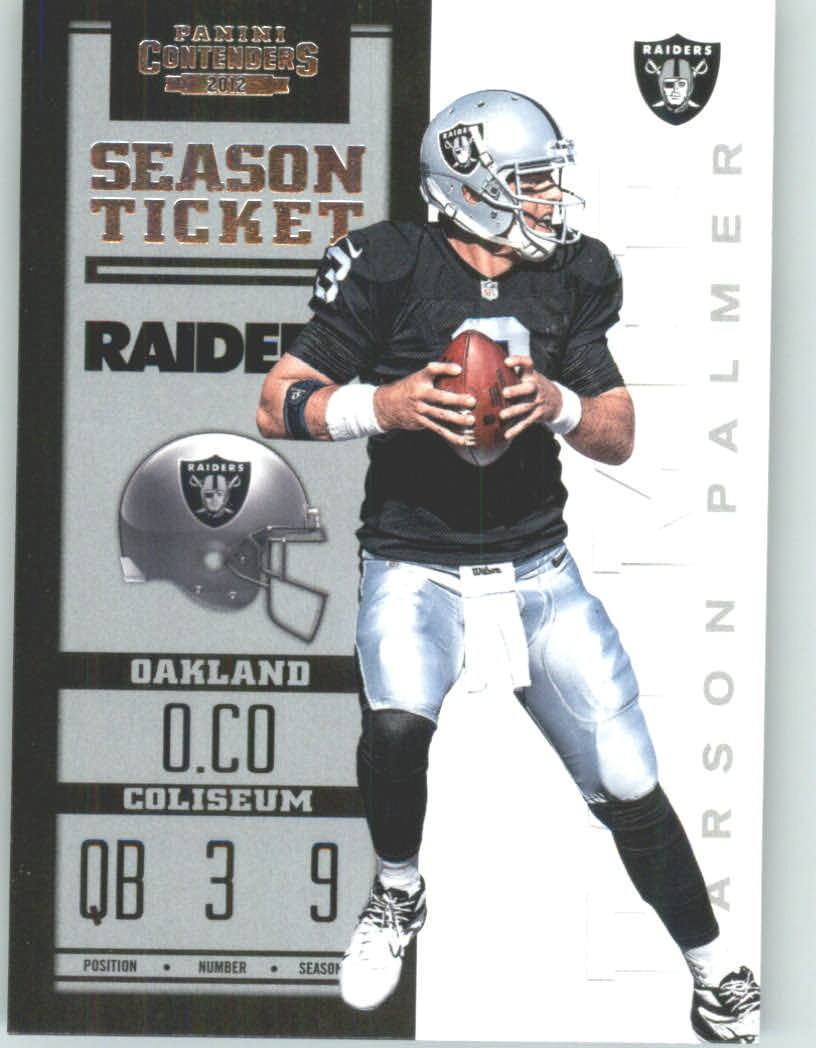 Panini Contenders 2012 Panini Contenders Playoff Season Ticket # 70 Carson Palmer - Oakland Raiders (NFL Football Trading Card) at Sears.com