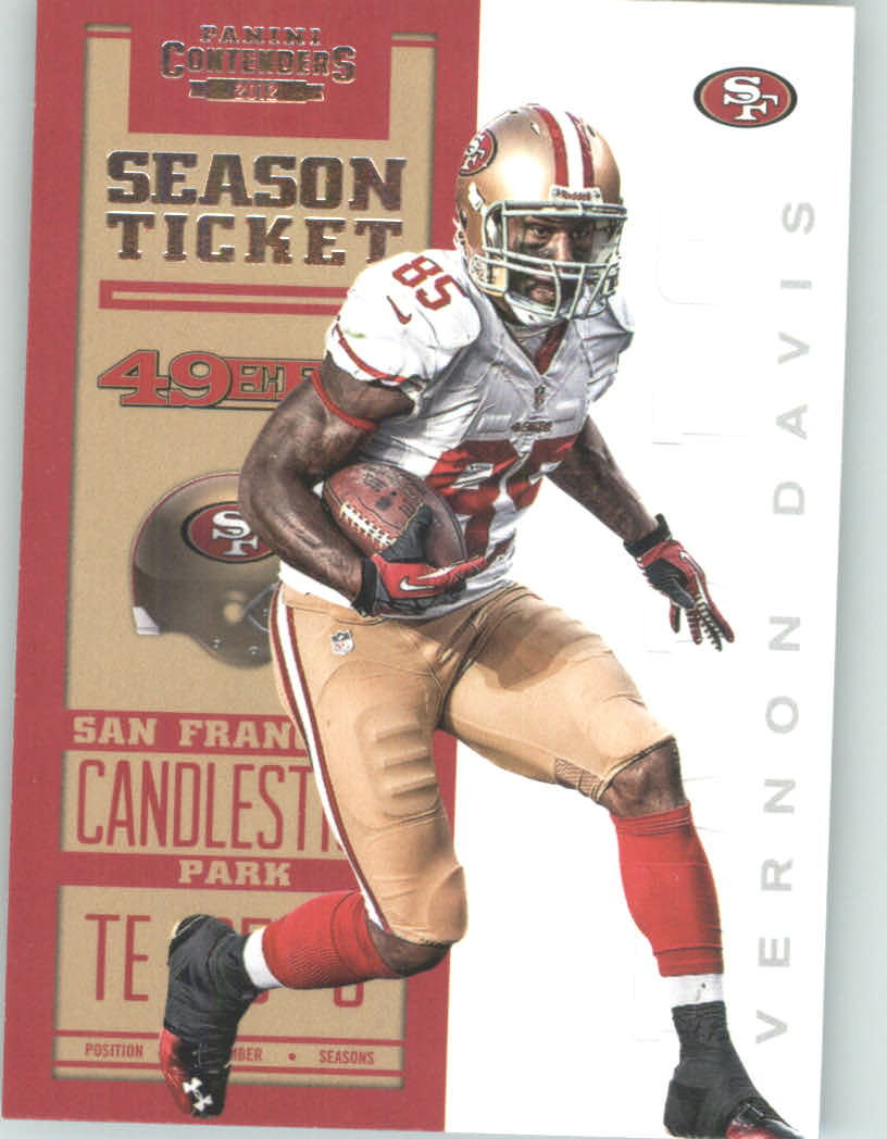 Panini Contenders 2012 Panini Contenders Playoff Season Ticket # 85 Vernon Davis - San Francisco 49ers (NFL Football Trading Card) at Sears.com