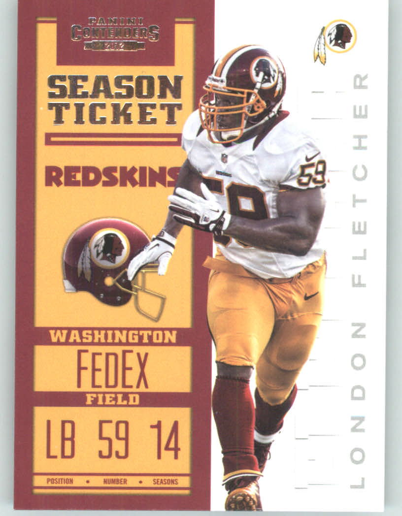 Panini Contenders 2012 Panini Contenders Playoff Season Ticket # 99 London Fletcher - Washington Redskins (NFL Football Trading Card) at Sears.com