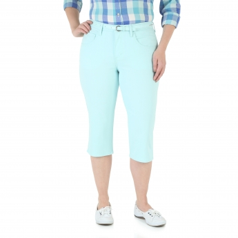 Belted Five Pocket Capri