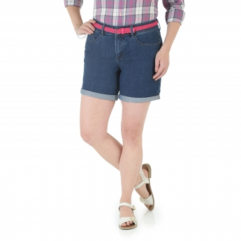 Belted 6 Inch Cuffed Short