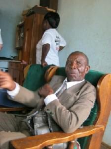 David Matende, 77, has twice survived malaria.