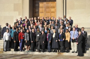 Attendees on the second day of the Imagine No Malaria conference on Capitol Hill