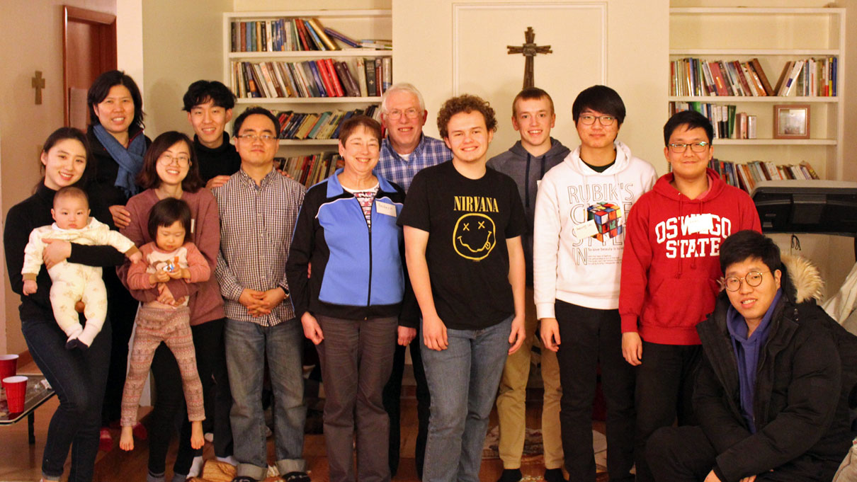 A United Methodist pastor in upper New York gives students from Korea a taste of home with weekly meals and Bible study.
