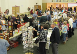 Alternative Gift Market shoppers fill the Fellowship Hall at First United Methodist Church in Riverside, Calif.
