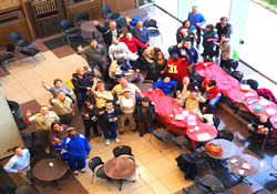 Boy Scout Troop 11 enjoys its 2012 holiday party.