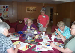 Bible study and crafts for senior adults at First United Methodist Church in Corpus Christi, Texas, provide learning and enjoyment.