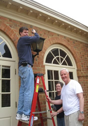 Installing compact flourescent bulbs in fixtures in and outside the church is one of the simpler ways congregations can practice good environmental stewardship.