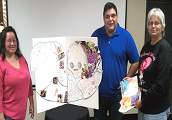 (From left) Sunrise Ross, Jeff O'Dell and the Rev. Bernadine Dowdy take part in Lay Missionary Planting Network training in the Oklahoma Indian Missionary Conference provided by the General Board of Discipleship.